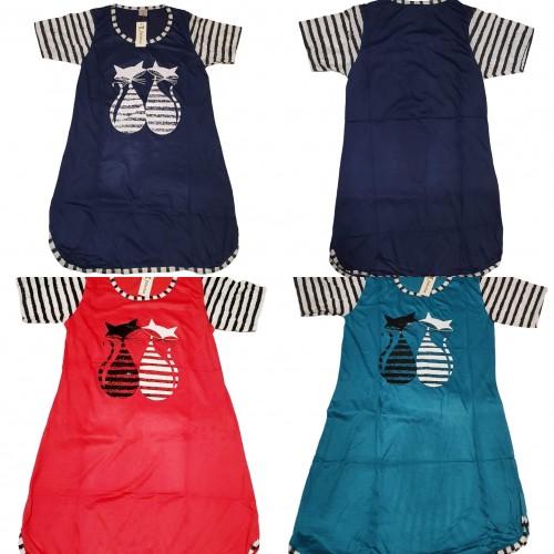 Женская туника платье с Котиками