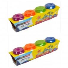 Тесто для лепки Play Toys 4банки по 500гр