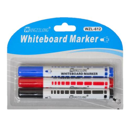 Набор маркеров на водной основе для доски. В упаковке 3 штуки.