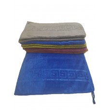 Плюшевое однотонное полотенце 75*35см