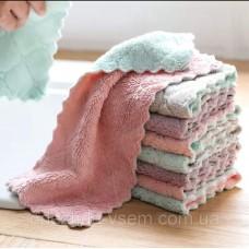 Набор плюшевых полотенец из 3х штук