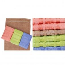 Махровые качественные Полотенца Бамбук 100*50см