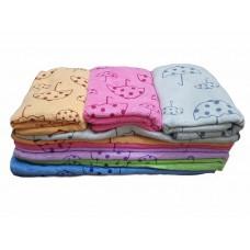 Плюшевые полотенца из микрофибры 70*35см