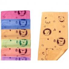 Плюшевые большие полотенца с Мишками 35*75см