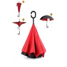 Красный зонт обратного сложения up-brella *Зонт Наоборот*