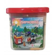 Конструктор Парковка 124 детали ( размер LEGO Duplo)