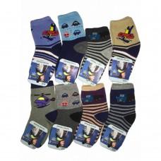 Махровые детские носочки с машинками