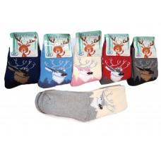 Махровые детские носочки с Оленями