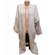 Вязаное кардиган пальто, рукав три четверти
