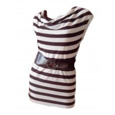Удлиненная футболка с поясом