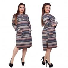 Женское платье в полоску