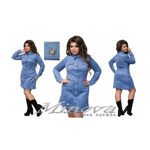 Женское платье замш под Джинс