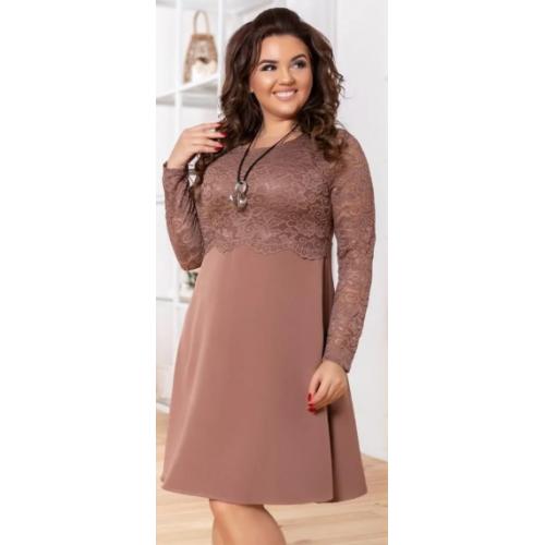 Нарядное женское платье А-силуэта ткань Костюмка