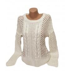 Женский свитер крупная вязка